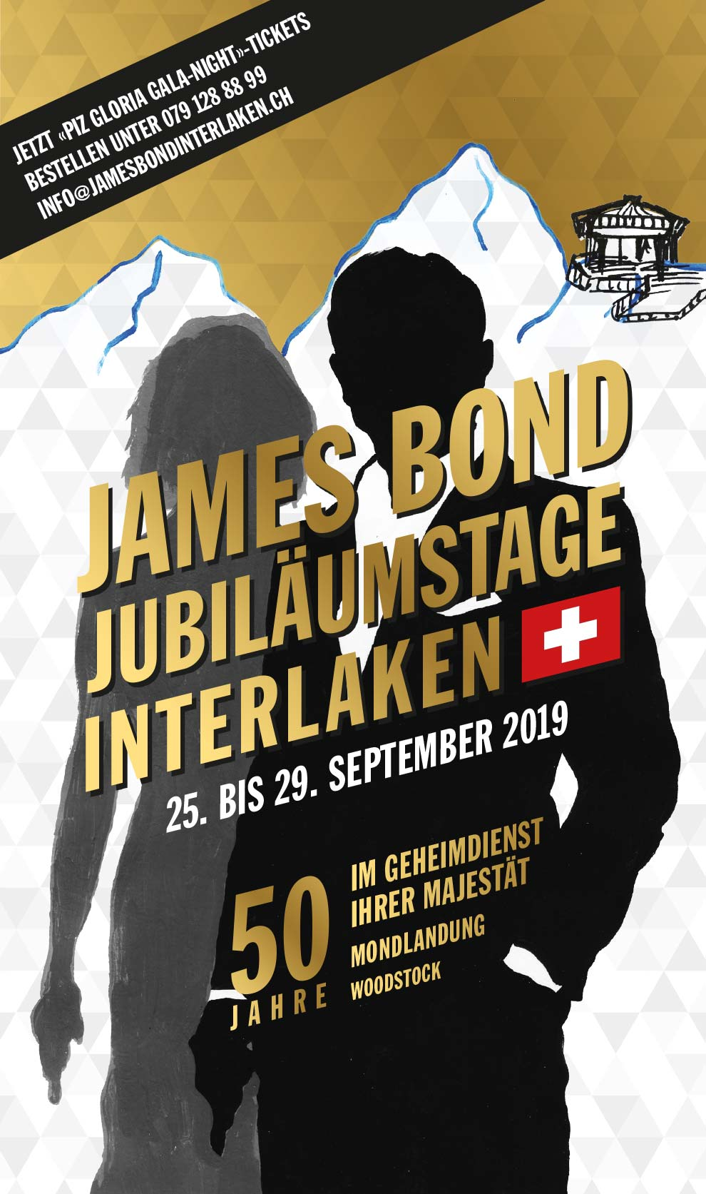 JAMES BOND JUBILÄUMSTAGE INTERLAKEN / 25. BIS 29. SEPTEMBER 2019